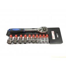 Набор головок FORCE-VOLGA 11 предметов 3/8 с трещеткой (DN-E1044)