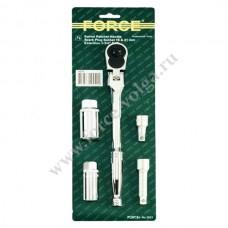Force набор свечных головок с трещеткой 5 предметов 3051