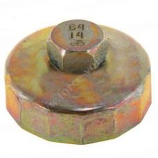 Съемник масляного фильтра АВТОМ 64мм 14гр чашка