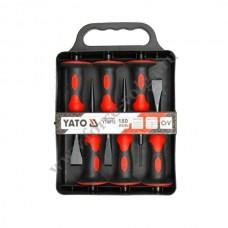 Зубило+пробойники в наборе 6 предметов YATO 4710 с протектором