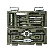 Набор автомобильных метчиков+плашки 16 предметов М3-М12 ДелоТехники