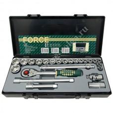 Набор головок Force1/2 ( 6 граней ) 24 предмета 10-32мм. F-4246