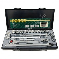 Набор головок Force1/2 ( 6 граней ) 24 предмета 10-32мм. F-4245