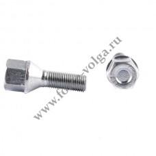 Болт колеса ХРОМ М12-1.25 30мм ключ 19 (Литой диск)