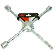 Ключ балонный крест. АвтоДело (клеп.) (17х19х22х1/2) 34411