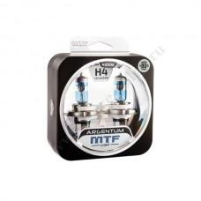 Лампа XENON MTF (Н4 60/55 +80% Argentum White) Колба