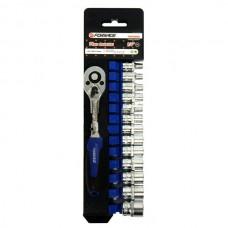 Набор инструмента FORSAGE 1/4 14 предметов 4-14мм. 014-5 6 граней +трещетка