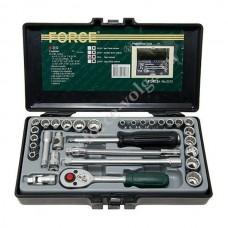 Набор головок Force1/4 31 предмет 12 граней F-2312