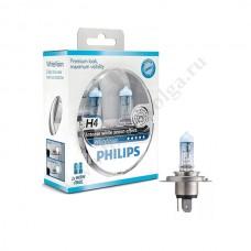 Лампа ФИЛИПС Н4 (60/55) XENON WHITE VISION набор