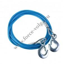 Трос буксир 1.5 тонны Веревка 2 крюка VOREL 82201