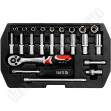Набор инструмента YATO 23 предмета 1/4 1445