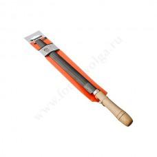 Напильник с деревян. ручкой п/круглый 250мм ЕРМАК