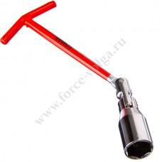 Ключ свечной с карданом 21мм (ЕРМАК)