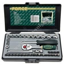 Набор головок Force1/4 (40 предметов 12 граней ) 3.2-14мм. F-2405Q
