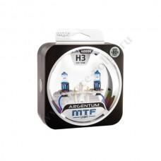 Лампа XENON MTF (Н3 Argentum (+80% 55 SUPER White) Колба