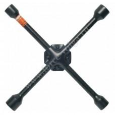 Ключ балонный крест. АвтоДело (клеп.) (17х19х21х1/2)ЧЕРНЫЙ ЛАК (30814)
