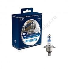 Лампа ФИЛИПС Н4 (60/55) RACING VISION набор +150%