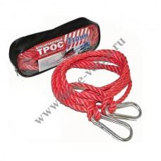 Трос буксир 7 тонн (Полярник) РЫВОК веревка 2 карабина в пакете
