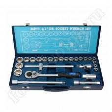 APELAS набор инструмента 26 предметов 6 граней 1/2 металл