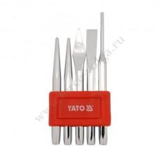 Зубило+керны в наборе 5 предметов YATO 4695