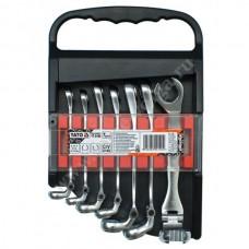 Набор ключей разрезных шарнирных 7 предметов (8-17) YATO 0190