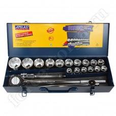 APELAS набор инструмента 21 предмет 3/4 PROFI 12 граней CS-6021MMH
