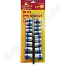 Набор инструмента King Tul 1/2 головки на план. 18 предметов КТ3029