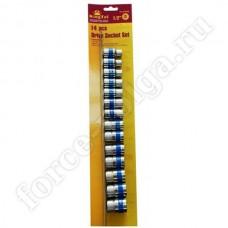 Набор инструмента King Tul 1/2 головки на план. 14 предметов 6 граней КТ3030